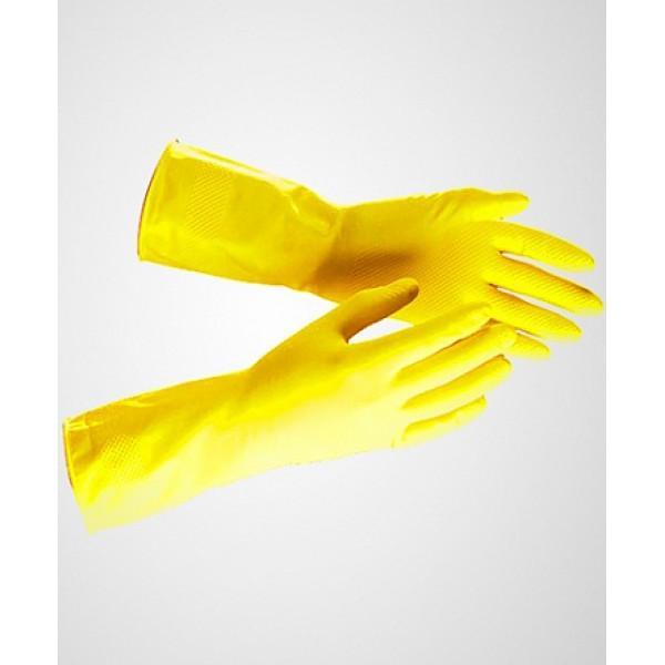 Перчатки резиновые хозяйственные, Малина Сверхпрочные 1шт