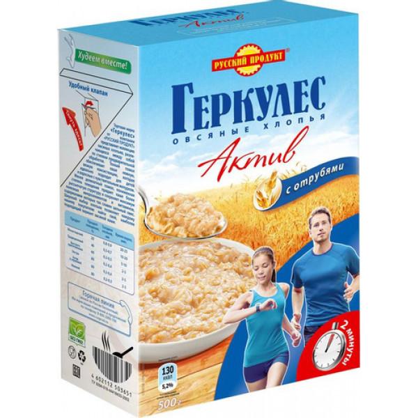 Овсянные хлопья Русский продукт геркулес актив 500гр