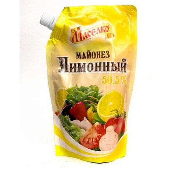 Майонез Маселко Лимонный 50,5% 190гр