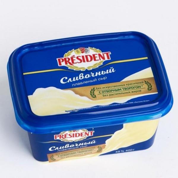 Плавленный сыр President в ассортименте 45% 400гр