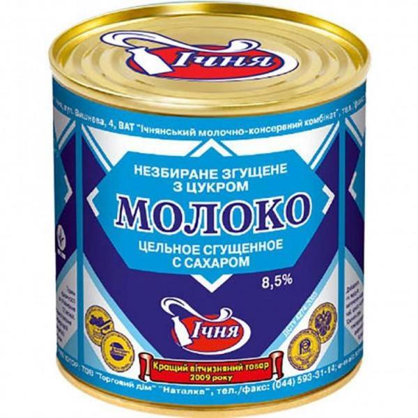 Сгущенное молоко Ичня 8.5% 370гр