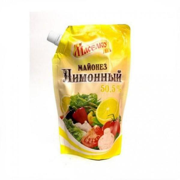 Майонез Маселко Лимонный 50.5% 380гр