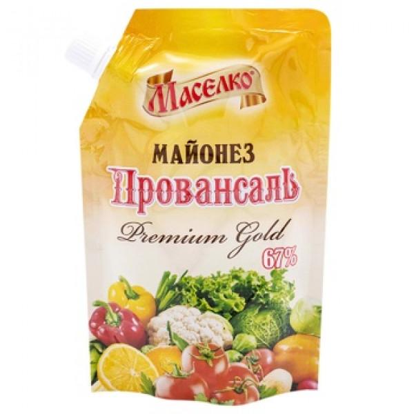 Майонез Маселко Premium Gold 67% 400мл