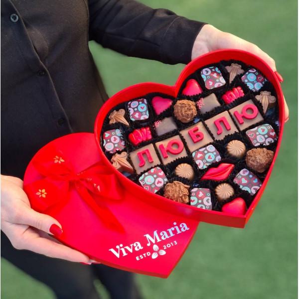 """Шоколад """"люблю"""" 32 штук"""