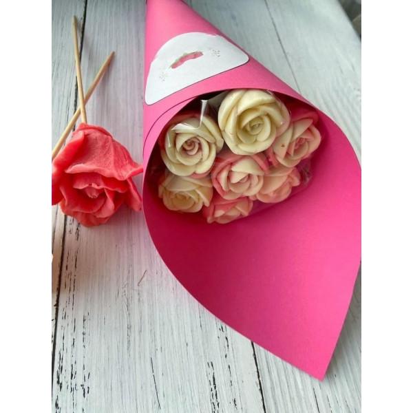 Шоколадный букет из 7 роз