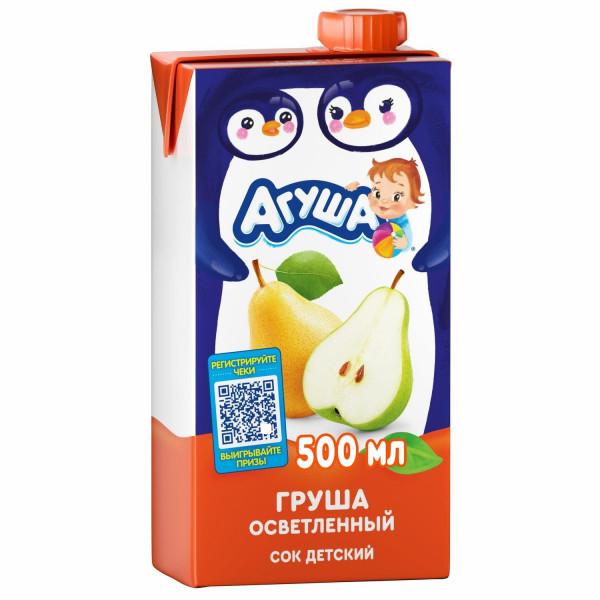 Детский сок Агуша, Груша осветленное 0,5 л