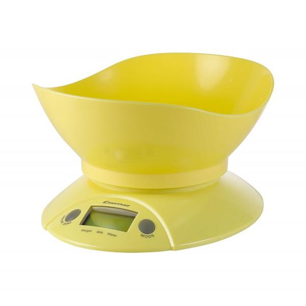 Электронные кухонные весы желтые
