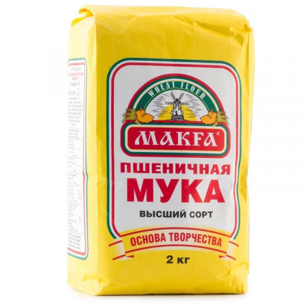 """Мука """"MAKFA"""" пшеничная (2 кг)"""