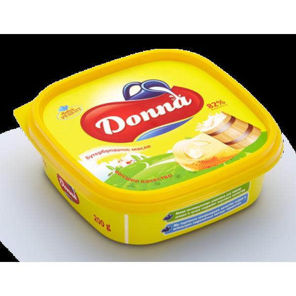 Бутербродное масло Danna жирность 82%, в пластиковой таре, (200 гр)