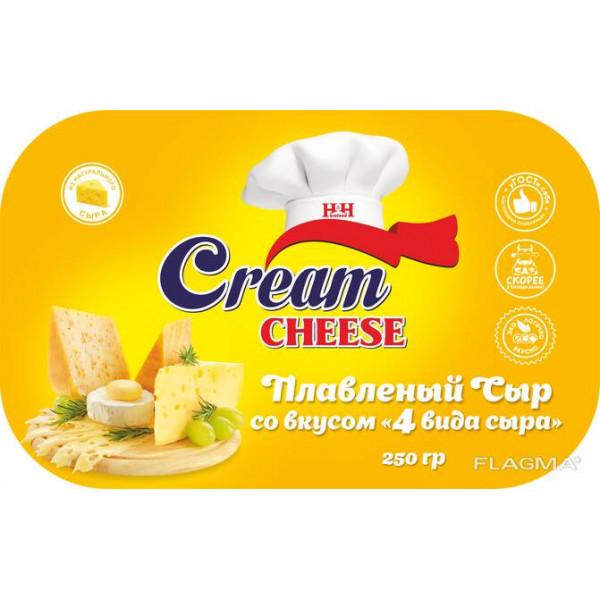 Плавленый сыр «4 вида»(250гр)