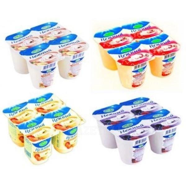 Йогурт Нежный в ассорт 1,2%100гр