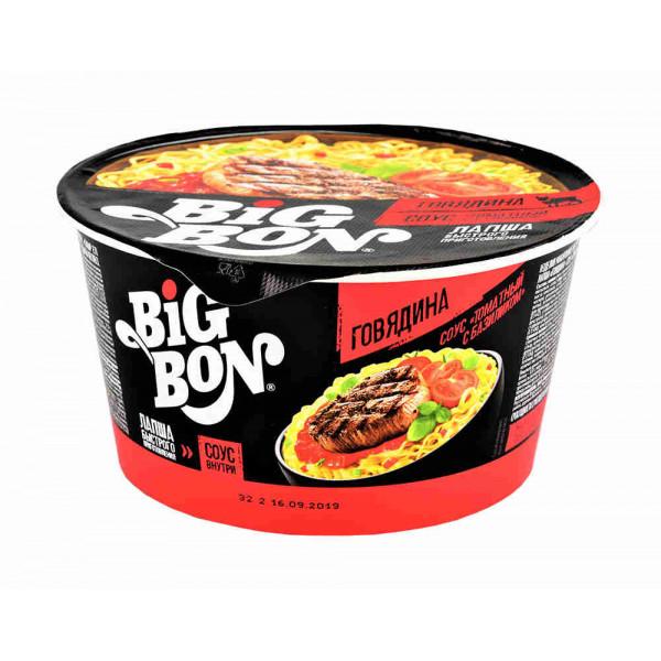 Лапша Big Bon Говядина + Соус (85гр)