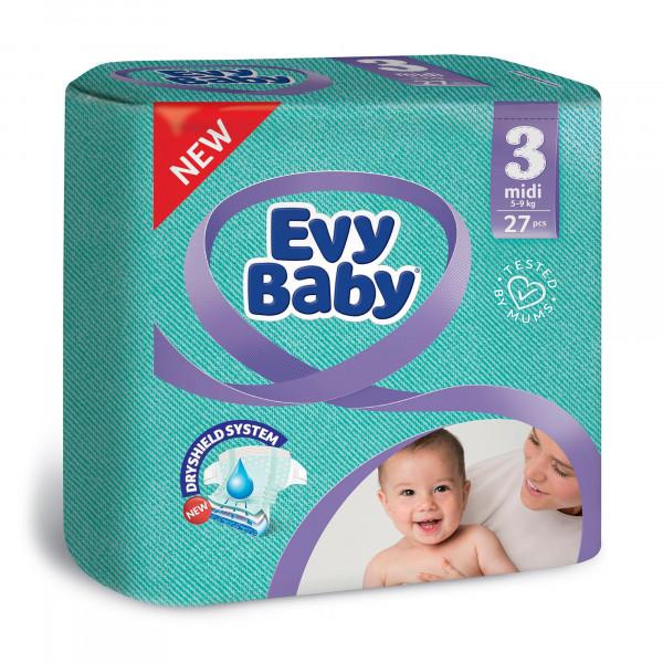 """Подгузники """"EVY BABY"""" 3 (27шт)"""