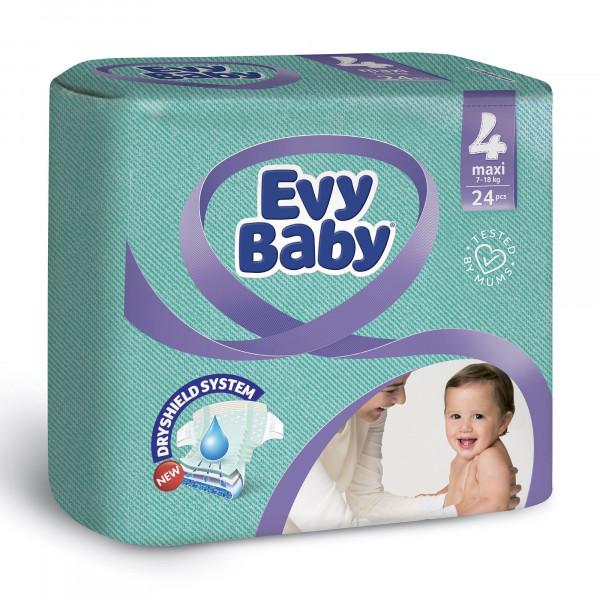 """Подгузники """"EVY BABY"""" 4 (24шт)"""