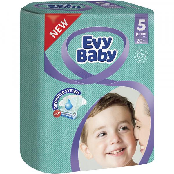 """Подгузники """"EVY BABY"""" 5 (20шт)"""