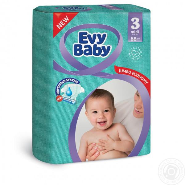"""Подгузники """"EVY BABY"""" 3 (68шт)"""