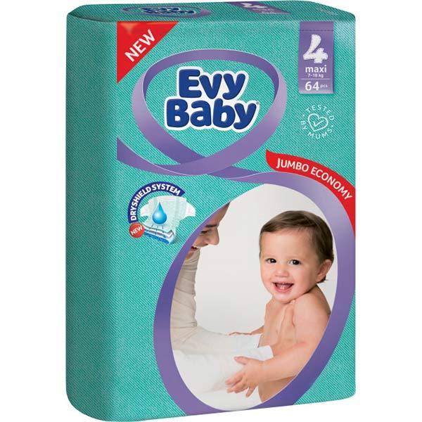 """Подгузники """"EVY BABY"""" 4  (64шт)"""