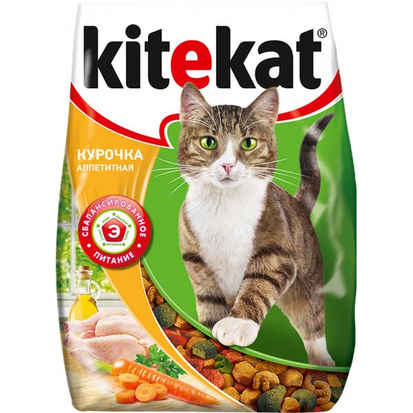 """Корм сухой для кошек """"Kitekat"""", курочка аппетитная, 1,9 кг"""