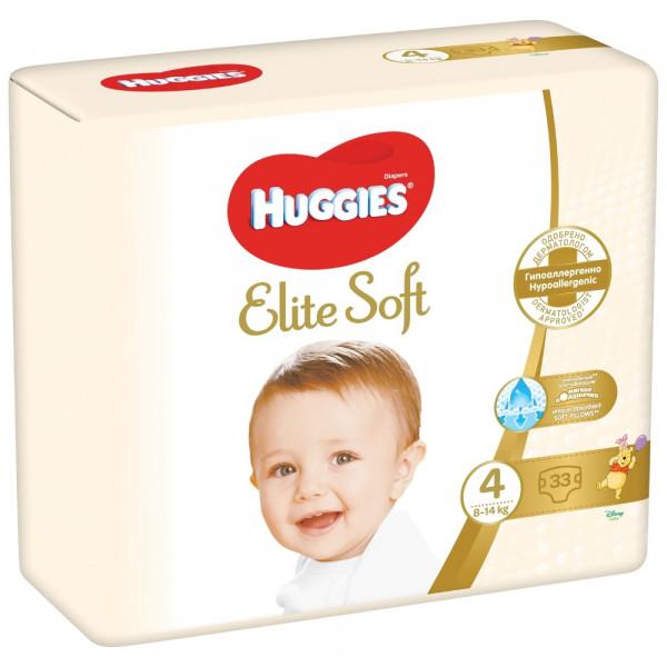 Huggies подгузники Elite Soft 4 (8-14 кг) 33 шт