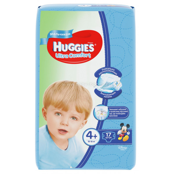 Huggies Ultra Comfort Boy 4+ (10-16 кг.) 17 шт