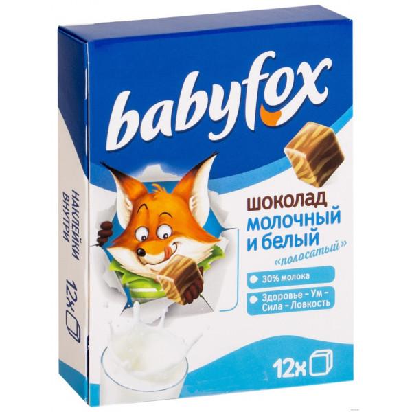 Babyfox Молочный и белый полосатый 90гр