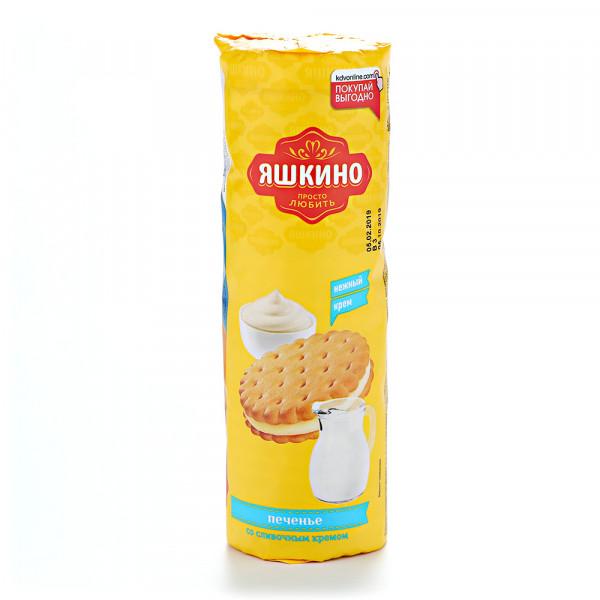 """Печенье """"Яшкино""""со сливочным кремом 182 г."""
