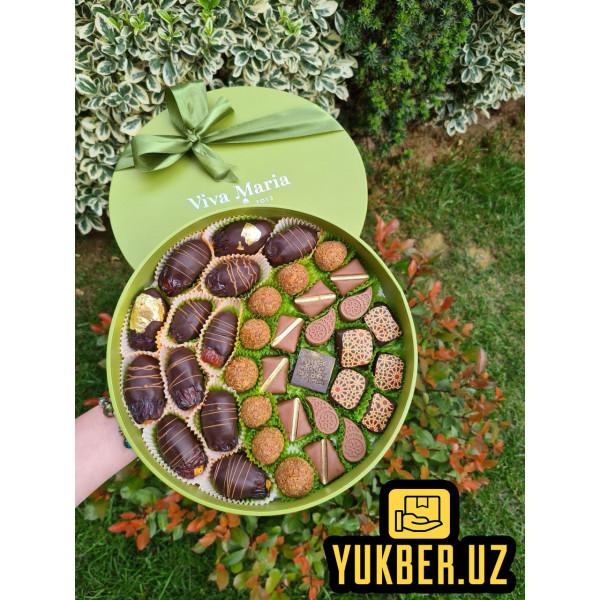"""Бельгийский Шоколад Ручной Работы """"Viva Maria Chocolateria"""" (Финики)"""