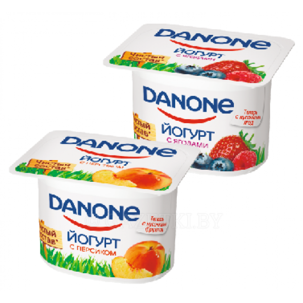 Йогурт Danone в ассорт 120 гр