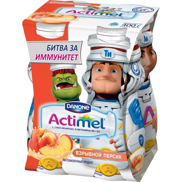 Actimel Kids в ассорт 100гр