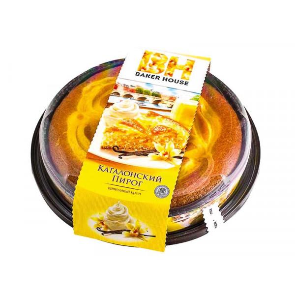 Пирог бисквитный Каталонский KOVIS с кремовой начинкой ВАНИЛЬНОЙ /Baker House/