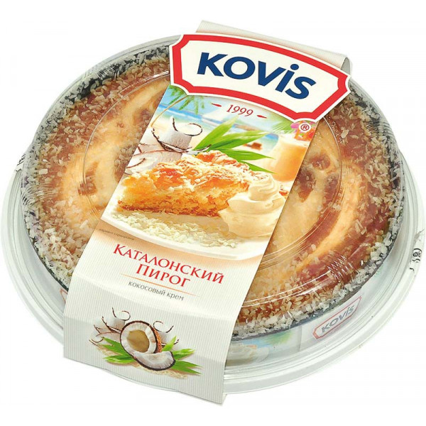Пирог бисквитный Каталонский KOVIS с начинкой КОКОС /Baker House/ 400 гр