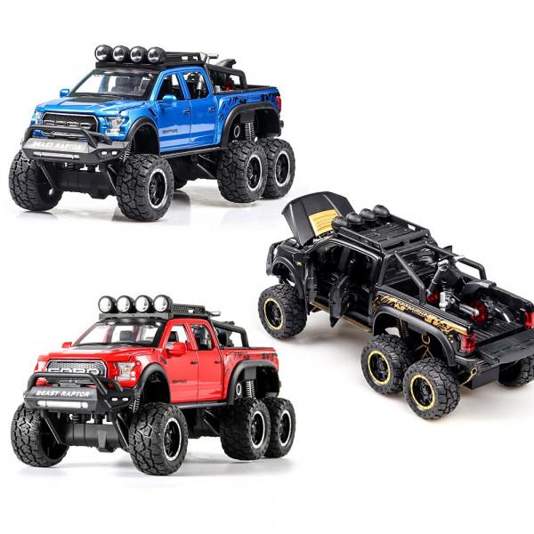 Игрушки Машинки Моделька Ford Raptor 6*6 No 100