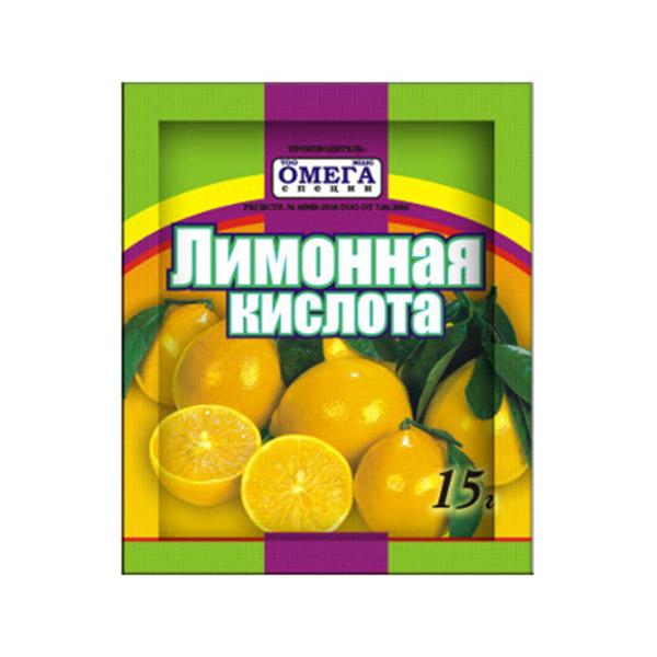 Приправа Omega Лимонная кистота 15гр