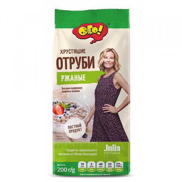 """Отруби Хрустящие  """"ОГО"""" РЖАНЫЕ 200gr"""