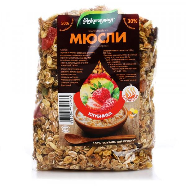 """Мюсли """"ФРУКТОВНИЦА"""" в ассортименте 500gr"""