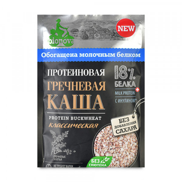 "Каша Протеиновая ""BIONOVA"" Гречневая, без сахара 40gr"