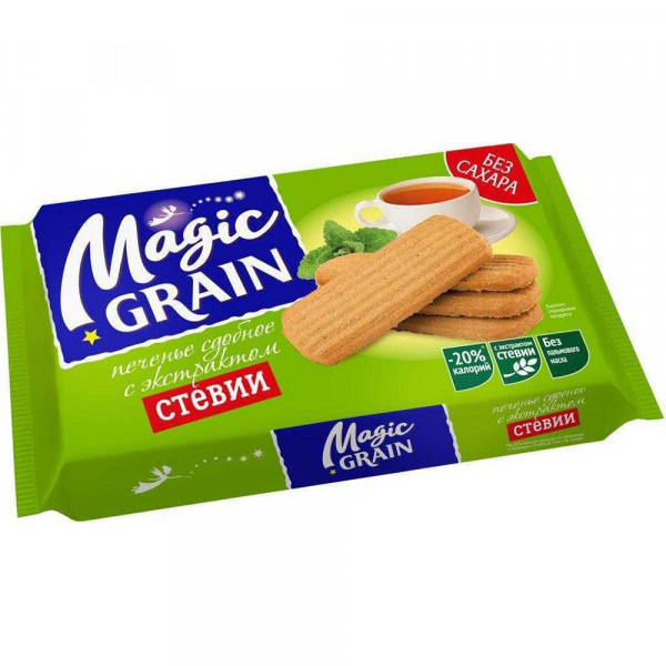 """Печенье """"MAGIC GRAIN"""" мультизлаковое с экс. стевии, без сахара 150gr"""