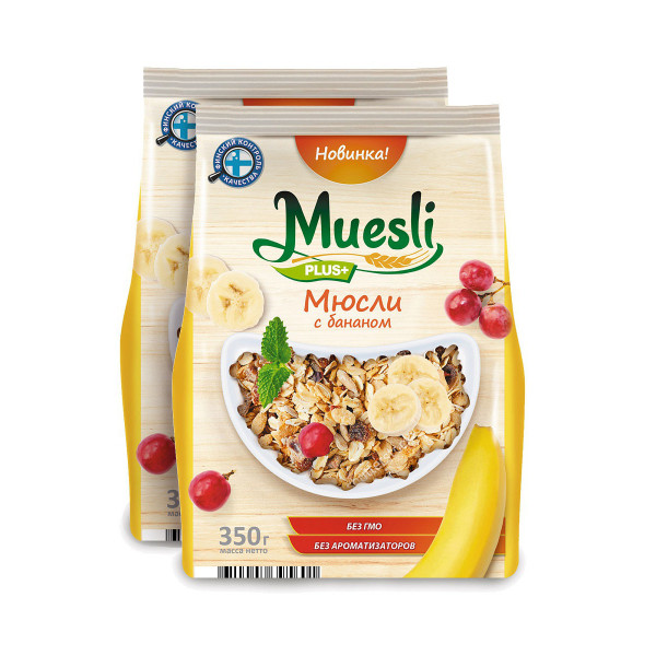Готовый завтрак Matti Мюсли с бананом, 350 г