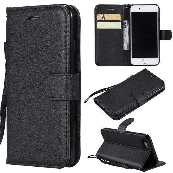 Кожзаменитель чехол-кошелек для iPhone X. Цвет: черный