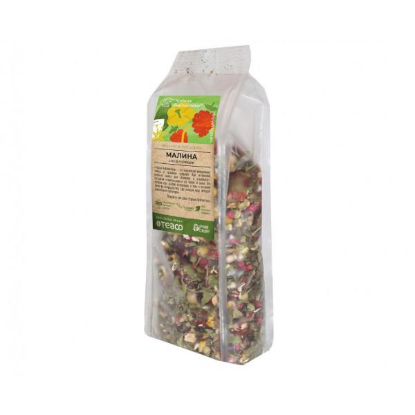 Травяной чай Teaco Чайный напиток Малина с мятой и гибискусом 100 г