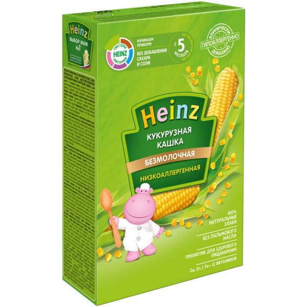 Детское питание каша HEINZ Низкоаллергенная кукурузная сухая с 5 мес
