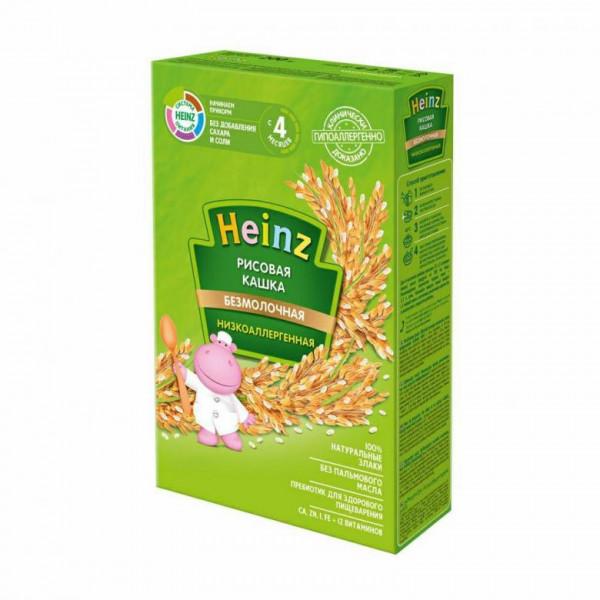 Каша безмолочная Heinz низкоаллергенная рисовая, 4 мес