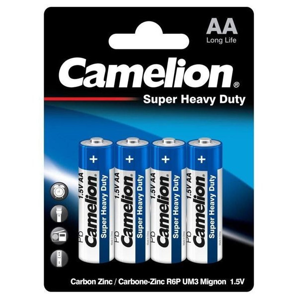 Батарейка Camelion AA R6P-BP4B, Super Heavy Duty, 1. 5V, 1050mAh (4 шт.)