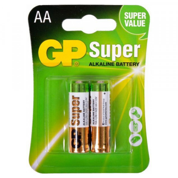 Батарейка AA GP Super Alkaline 15A LR6 (2шт)