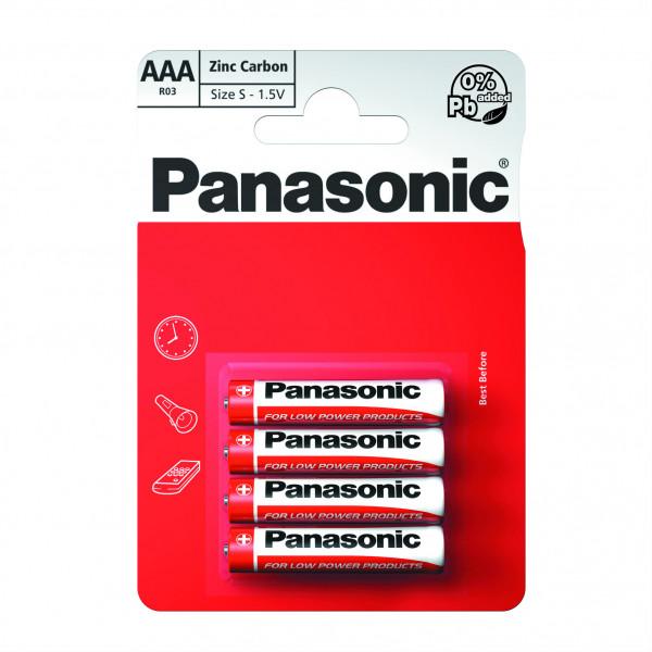 Батарейки Panasonic AAA R03  комплект 4 шт 1.5 в