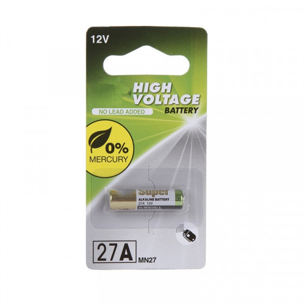 Батарейка 27A - GP High Voltage 27AFRA-2C1 1шт