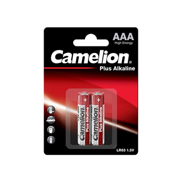 Батарейка CAMELION LR03 AAA Plus Alkaline blist 2 шт