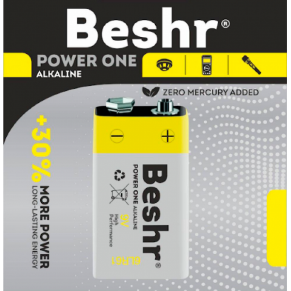 Батарейка Beshr 6LR61 9V