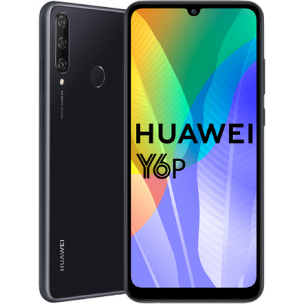 Huawei Y6p Smartphone / черный /зеленый