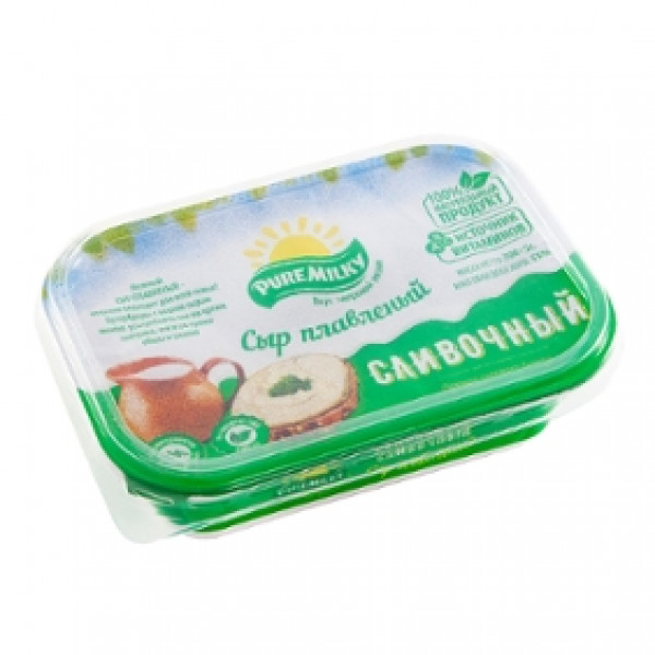 Молочный изделия Плавленный Сыр Сливочный Pure Milky  200гр